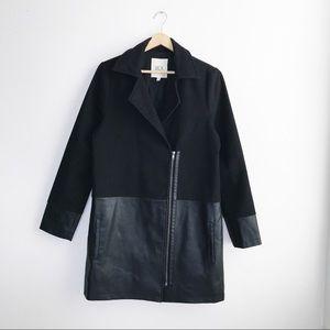 Jack By BB Dakota Black Vegan Leather Coat Small